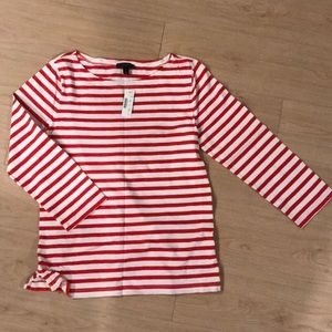 J.crew 3/4 sleeve striped tee